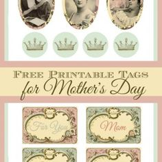 Mothers Day Printable Tags
