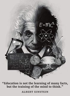 Palace Learning Albert Einstein Poster - Inspirational and Motivational Quote x La. Albert Einstein Poster, Albert Einstein Education, Funny Motivational Quotes, Stupid Quotes, Inspirational Quotes, Poster Wall, Poster Prints, Math Wallpaper, Wallpaper Borders