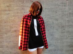 Salute Vice-Line Checkered Flannel Shirt Pair up anything with this all-time favorite flannel shirt and stand out among the crowd! Streetwear Shop, Flannel Shirt, Crowd, Muse, Street Wear, Swag, Street Style, Female, Lady