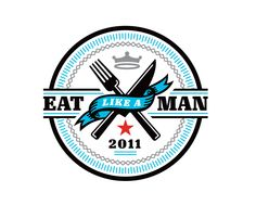 """Eat Like A Man  Math Lehman for Esquire, the logo for """"Eat Like A Man"""" feature."""