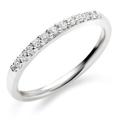 Womens Wedding Band 10K White Gold 2mm White gold wedding bands