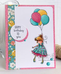 Featuring Stamping Bella's Tiny Townie Blossom Loves Balloons SKU 602165, available at www.addictedtorubberstamps.com