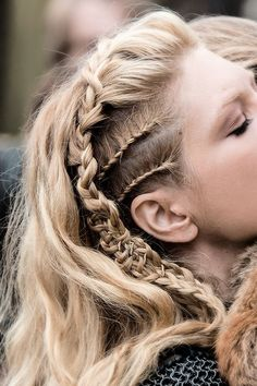 An interesting mix of braids. Why not go wild with it? # viking Braids lagertha Flowers, Braids And Looking Undone: Festival Hair Inspiration 2015 Pretty Hairstyles, Braided Hairstyles, Viking Hairstyles, Grunge Hairstyles, Hairstyles 2018, Braided Updo, Braided Faux Hawk, Wedding Hairstyles, Steampunk Hairstyles