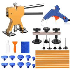 Hail And Door Ding Repair Starter Set Hot Sale 16 Pieces Auto Body Dent Removal Pdr Rod Tool Kit b+c