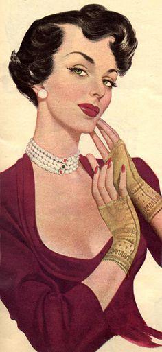 vintage woman vintage fashion plate