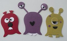 Monsters using Stampin Up Owl Punch!