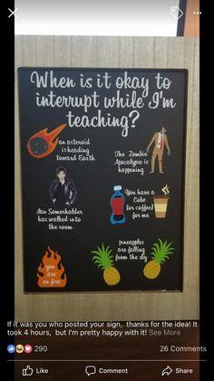 """This is going into my classroom specifically because it says, """"Ian Somerhalder… Dies geht in mein Klassenzimmer, weil dort steht: """"Ian Somerhalder hat den Raum betreten. Classroom Setup, Future Classroom, School Classroom, Classroom Organization, Science Classroom Decorations, English Classroom Decor, Funny Classroom Posters, Science Room Decor, English Classroom Posters"""