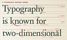 Typography is two dimensional.     http://www.smashingmagazine.com/typography-guidelines-and-references/