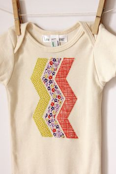 Chevron Onesie  Appliqued American Apparel by LittleBlueFeathers, $17.95