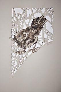 This display shows a rare example of a square collagraph plate. Linocut Prints, Art Prints, Block Prints, Collagraph Printmaking, Linoleum Block Printing, Bird Artwork, Outdoor Art, Woodblock Print, Pet Birds