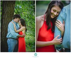 Atlanta Engagement session showing their Auburn spirit (orange and blue)