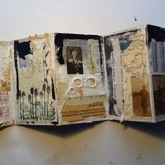 Book Art Collage Work Fabric Art Paper Art ...