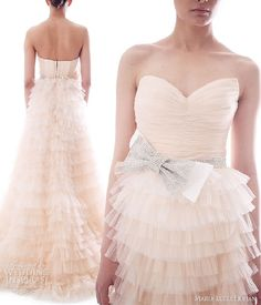 nude wedding gown
