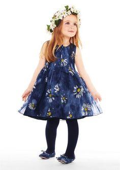 dolce gabbana vestido azul florido