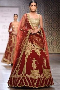 Rimple and Harpreet Narula runway couture 2016 collection online. a marsala…
