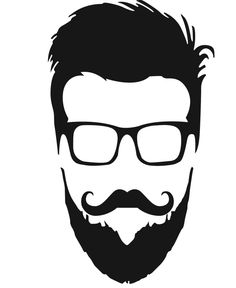 Vector Serigrafia Cut for men Beard Logo, Beard Tattoo, Beard Art, Emo Art, Beard Designs, Barbershop Design, Hipster Beard, Face Sketch, Long Beards