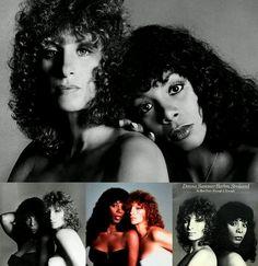 """Barbra & Donna - Scavullo photo shoot for """"Enough Is Enough"""""""