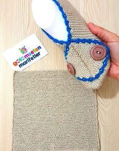 1 Saatte Gelin Yeleği Modeli Yapılışı   Hatunzade.Com Shoe Pattern, Christmas Gifts, Crochet Hats, Slippers, Knitting, Crafts, How To Make, My Love, Tinder