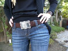 1 1/2 Womens Chocolate Brown or Black by FetchingGraceLeather, $50.00