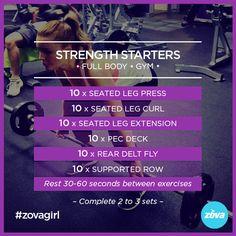 Beginner Gym Workout | Instagram @ZOVA