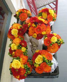 Fall Wedding Flowers at Grand Isle Lake House