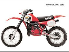 1981- Honda CR250- 1st production year for liquid cooled motor.