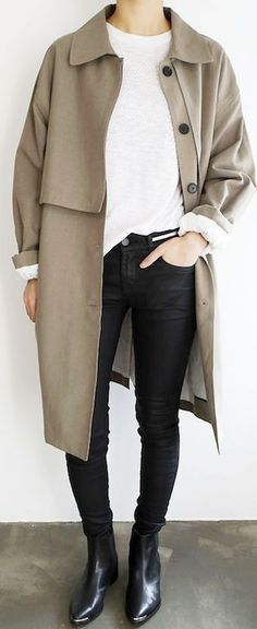 The white knit, coated skinny jeans and pointed-toe Acne Studios boots  |