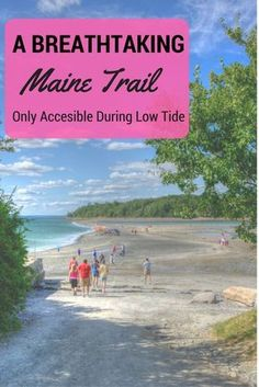 maine, new england, travel, usa, vacation ideas, travel ideas, travel inspiration, bucketlist, acadia, national park, beach, low tide, walk, hiking, hike, nature, outdoors, scenic