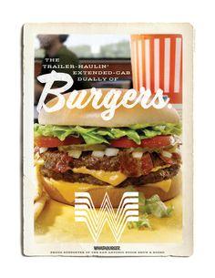 """Whataburger """"Dually of Burgers"""" print ad."""