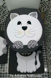 Resultado de imagem para molde jogo de banheiro em tecido patchwork