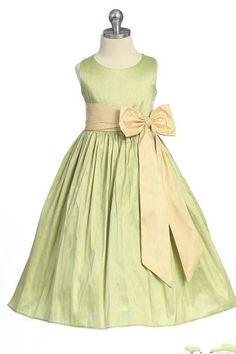 A Line Bow Sash Satin Common Ruffles Perfect Customzied Girls Junior Bridesmaid Dress
