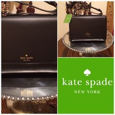"""Kate Spade Parker Street Bag NEW! Authentic bag from Kate Spade. Black leather combined with suede in tan/beige color.              ✅Perfect new condition with tag attached        ❌Sorry, no trades                                                  ✈️Fast shipping, same or next day                       ➡️Strap is adjustable, can go longer or shorter. Max. Lenght 30"""". kate spade Bags Satchels"""