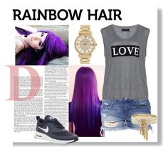 """""""Rainbowhair"""" by cassy-style ❤ liked on Polyvore"""