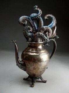 Grafton Pottery #Sculpture #Teapot #Tentacles