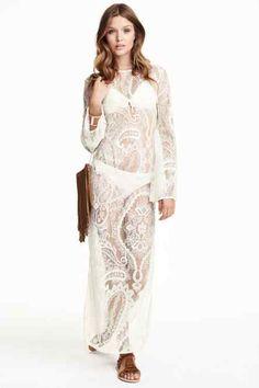 Vestido de renda comprido