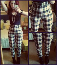 Craft, Thrift, or Die: Cheap Imitations vol.1: Pants; also more plaid; vintage, thrift store fashion