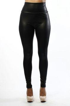 24.High Waisted Leather Leggings