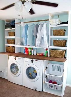 Washroom Washing Machine Organisation Ideas