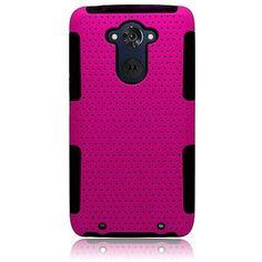 Hybrid Mesh Astronoot Motorola Droid Turbo Case - Hot Pink/Black