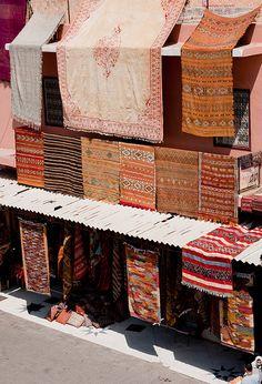 Moroccan Rugs on display