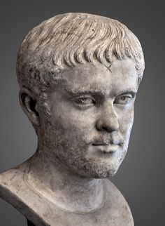 Portrait of a Roman Man, circa A. Roman Sculpture, Stone Sculpture, Roman History, Art History, Roman Man, Art Romain, Ancient Rome, Roman Empire, The Past