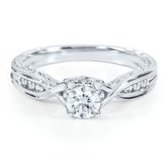 I LOVE this one!! Handel Smart Value® 1/2 ct. tw. Engagement Ring in 14K Gold - Handel Collection - Helzberg Diamond Symphonies - Collections - Helzberg Diamonds