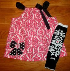Damask Bow Top