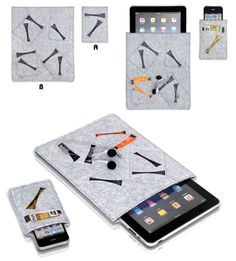 2087 designer phone cases/cell phone cases/ cell phone covers in grey felt H0287A