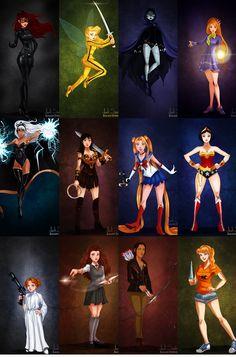 ilustrações releitura das princesas versão masculina - Pesquisa Google