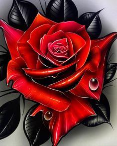 Floral Tattoo Design, Tattoo Designs, Tattoo Ideas, Dark Art Tattoo, I Tattoo, Tatuaje Trash Polka, Sketch Painting, Tattoo Machine, Rose Tattoos