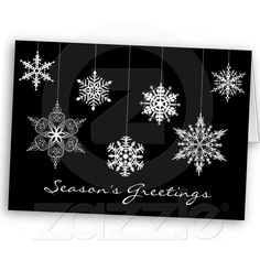 Elegant Black and White Christmas Card :: Add your own text!