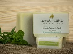 Our Rosemary peppermint soap is earthy and revitalizing. perfect for an outdoor shower or use at the cottage. Cottage Showers, Peppermint Soap, Green Clay, Palm Oil, Face And Body, Earthy, Coconut Oil, Moisturizer, Essential Oils