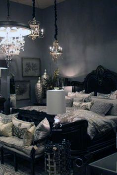 Gold dining room accessories black and gold bedroom accessories decorations black and gold bedroom decorating ideas Gold Bedroom, Dream Bedroom, Home Decor Bedroom, Bedroom Ideas, Bedroom Designs, Royal Bedroom, Bedroom Furniture, Gothic Furniture, White Bedroom