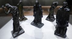 """Auguste Rodin, """"The Burghers of Calais."""" From the William S. Paley collection shown at the Crystal Bridges Museum of American Art."""
